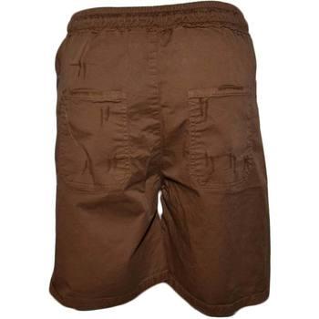 Abbigliamento Uomo Shorts / Bermuda Malu Shoes Pantaloncini Lino Uomo Pantalone Corto Bermuda  Sportivo Marron MARRONE