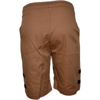 Abbigliamento Uomo Shorts / Bermuda Malu Shoes Pantalone Corto Uomo Bermuda Pantaloncini Tuta Bicolore Cuoio E CUOIO