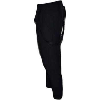 Abbigliamento Uomo Pantaloni morbidi / Pantaloni alla zuava Malu Shoes Pantaloni jogger cavallo basso uomo nero con elastico e couliss BLU