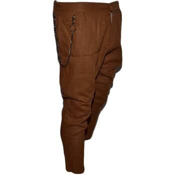 Abbigliamento Uomo Chino Malu Shoes Pantaloni di Lino Uomo Con Accessorio Estivi Retro Casual Legge CUOIO
