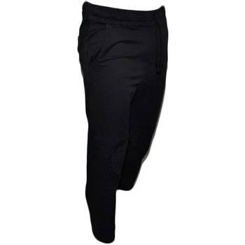 Abbigliamento Uomo Pantaloni da tuta Malu Shoes Pantaloni Sportivo Uomo Nero Pantalone Tuta Cargo Tinta Unita N NERO