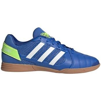 Scarpe Unisex bambino Calcio adidas Originals Top Sala Bianco, Azzuro, Giallo