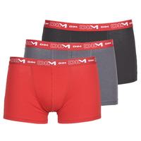 Biancheria Intima  Uomo Boxer DIM COTON STRETCH Grigio / Rosso / Nero