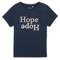 Abbigliamento Bambina T-shirt maniche corte Name it NKFFRANSESKA Marine