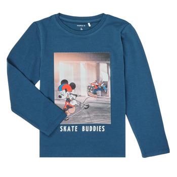 Abbigliamento Bambino T-shirts a maniche lunghe Name it NMMMICKEY EMIL Marine