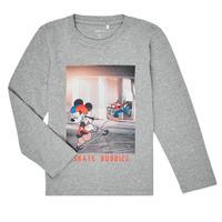 Abbigliamento Bambino T-shirts a maniche lunghe Name it NMMMICKEY EMIL Grigio