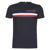 Abbigliamento Uomo T-shirt maniche corte Tommy Hilfiger GLOBAL STRIPE TEE Marine