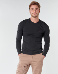 Abbigliamento Uomo T-shirts a maniche lunghe Tommy Hilfiger STRETCH SLIM FIT LONG SLEEVE TEE Nero