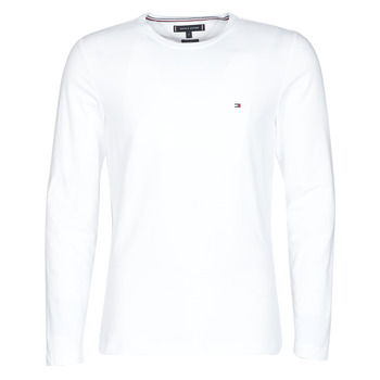 Abbigliamento Uomo T-shirts a maniche lunghe Tommy Hilfiger STRETCH SLIM FIT LONG SLEEVE TEE Bianco
