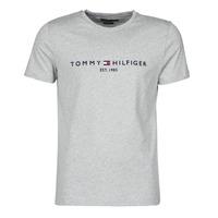 Abbigliamento Uomo T-shirt maniche corte Tommy Hilfiger TOMMY LOGO TEE Grigio