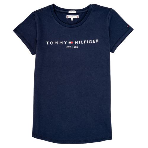 Abbigliamento Bambina T-shirt maniche corte Tommy Hilfiger KG0KG05242-C87 Marine