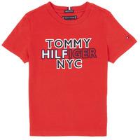 Abbigliamento Bambino T-shirt maniche corte Tommy Hilfiger KB0KB05848-XNL Rosso