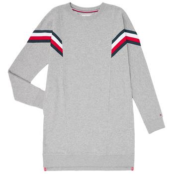Abbigliamento Bambina Abiti corti Tommy Hilfiger KG0KG05283-P6U Grigio