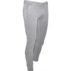 Abbigliamento Uomo Jeans skynny Malu Shoes Pantaloni Uomo Slim Fit Casual Eleganti in Cotone grigio perla GRIGIO