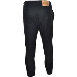 Abbigliamento Uomo Jeans slim Malu Shoes Pantaloni jogger neri uomo con bottone e tasche laterali con st NERO