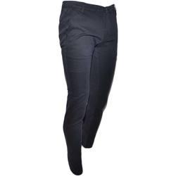 Abbigliamento Uomo Chino Malu Shoes Pantalone Moda Uomo Nero Tasca America Cotone Chino Elastico Co NERO