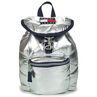 Borse Donna Zaini Tommy Jeans TJW HERITAGE SM PUFFER BACKPACK Argento