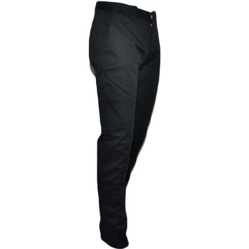 Abbigliamento Uomo Jeans dritti Malu Shoes Pantalone Moda Uomo Nero Cropper Cotone Chino Elastico Colori V NERO