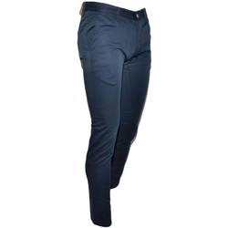 Abbigliamento Uomo Jeans slim Malu Shoes Pantalone moda uomo blu cropped cotone chino elastico colori va BLU