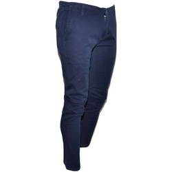 Abbigliamento Uomo Jeans dritti Malu Shoes Pantalone moda uomo blu cobalto cotone chino elastico colori va BLU