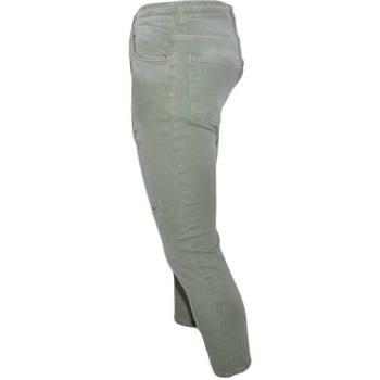 Abbigliamento Uomo Jeans slim Malu Shoes Jeans uomo verdi denim lavaggio graduale slim fit a cavallo bas VERDE