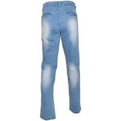 Abbigliamento Uomo Jeans dritti Malu Shoes Pantalone Jeans Uomo Denim Chiaro Effetto Sfumato a chiazze tas BLU