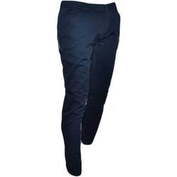Abbigliamento Uomo Jeans dritti Malu Shoes Pantalone moda uomo blu notte cotone chino elastico colori vari BLU