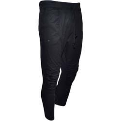Abbigliamento Uomo Jeans dritti Malu Shoes Pantaloni jogger panta tuta a cavallo basso uomo nero con elast NERO