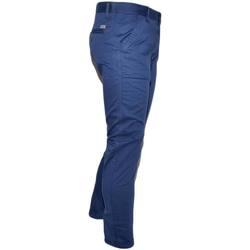 Abbigliamento Uomo Chino Malu Shoes Pantalone uomo blu cobalto in cotone elasticizzato colori vari BLU