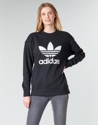 Abbigliamento Donna Felpe adidas Originals TRF CREW SWEAT Nero