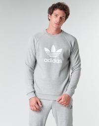 Abbigliamento Uomo Felpe adidas Originals TREFOIL CREW Bruyère / Grigio / Moyen