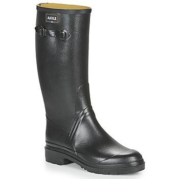 Scarpe Uomo Stivali da pioggia Aigle CESSAC Black