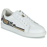 Scarpe Donna Sneakers basse Bons baisers de Paname SIMONE AMOUR RETRO Bianco / Oro
