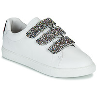 Scarpe Donna Sneakers basse Bons baisers de Paname EDITH GLITTER TONGUE Bianco