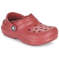 Scarpe Unisex bambino Zoccoli Crocs CLASSIC LINED CLOG K Red