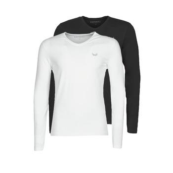 Abbigliamento Uomo T-shirts a maniche lunghe Kaporal VIFT Nero-bianco