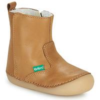 Scarpe Bambina Stivaletti Kickers SOCOOL CHO Camel