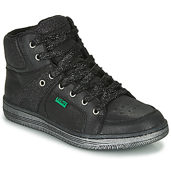 Scarpe Bambina Sneakers alte Kickers LOWELL Nero