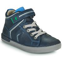 Scarpe Bambino Sneakers alte Kickers IRELAS Marine / Blu