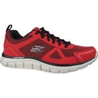 Scarpe Uomo Sneakers basse Skechers Track Bucolo Nero, Rosso