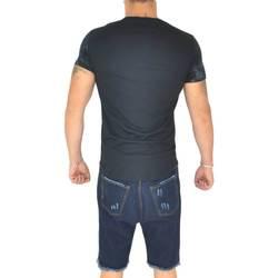 Abbigliamento Uomo T-shirt maniche corte Malu Shoes T-shirt uomo stampato man nero cotone basic con stampa new york NERO