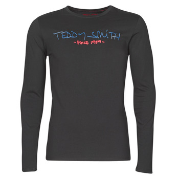 Abbigliamento Uomo T-shirts a maniche lunghe Teddy Smith TICLASS BASIC M Nero
