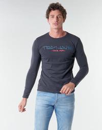Abbigliamento Uomo T-shirts a maniche lunghe Teddy Smith TICLASS BASIC M Marine