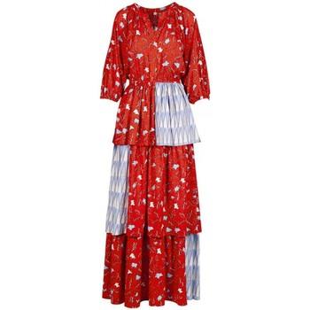 Abbigliamento Donna Abiti lunghi Anonyme Abito Deborah Leafs Arancio  ANYA220SD029 ORAN Arancio
