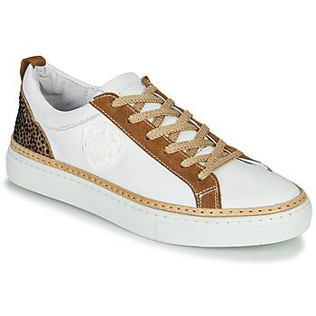 Scarpe Donna Sneakers basse Philippe Morvan CORK V1 NAPPA BLANC Bianco / Camel