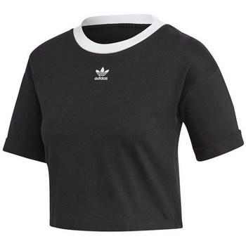 Abbigliamento Donna T-shirt maniche corte adidas Originals M10 Crop Top Nero