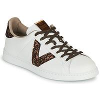 Scarpe Donna Sneakers basse Victoria TENIS PIEL VEG Bianco / Marrone