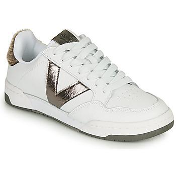 Scarpe Donna Sneakers basse Victoria CRONO PIEL Bianco / Bronzo