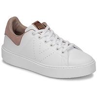 Scarpe Donna Sneakers basse Victoria UTOPÍA PIEL VEG Bianco / Rosa