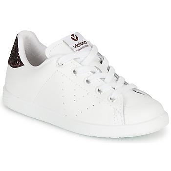 Scarpe Bambina Sneakers basse Victoria TENIS PIEL Bianco / Bordeaux